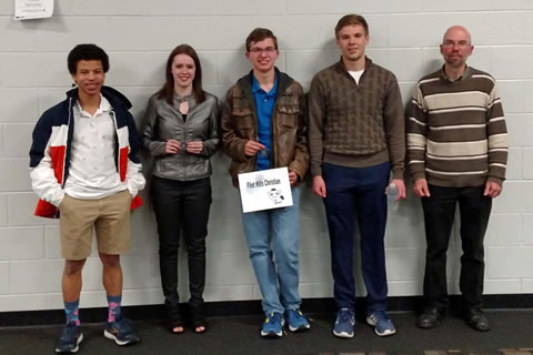 Scholar Bowl students and coach